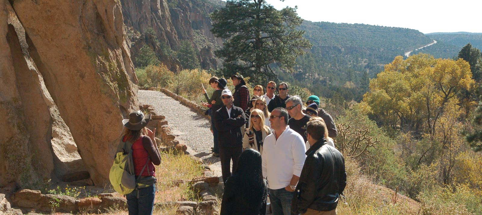 Group with Monique at Bandelier